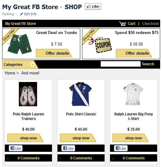 Zibaba facebook store