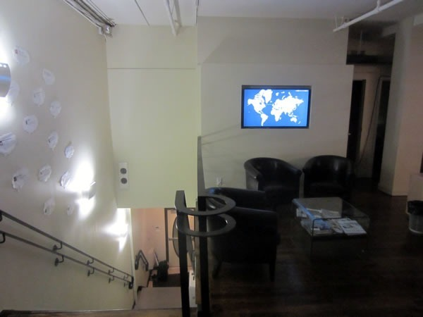 The entry stairway to the Shopify offices
