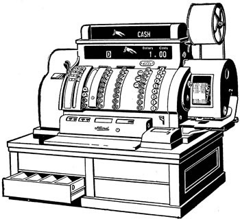 Illustration of a cash register