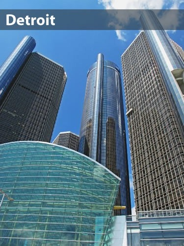 Photo of GM Headquarters in Detroit