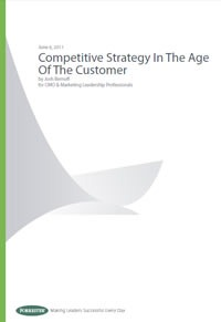 """Cover of the Forrester Report """"Competitive Strategy in the Age of the Customer"""""""