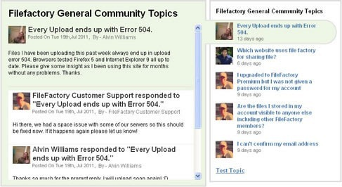 Screenshot of a Get Satisfaction community page