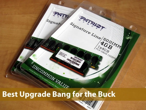 2 packs of Patriot RAM 4GB SODIMMs