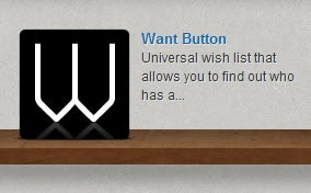 Want Button app icon on the App Store shelf