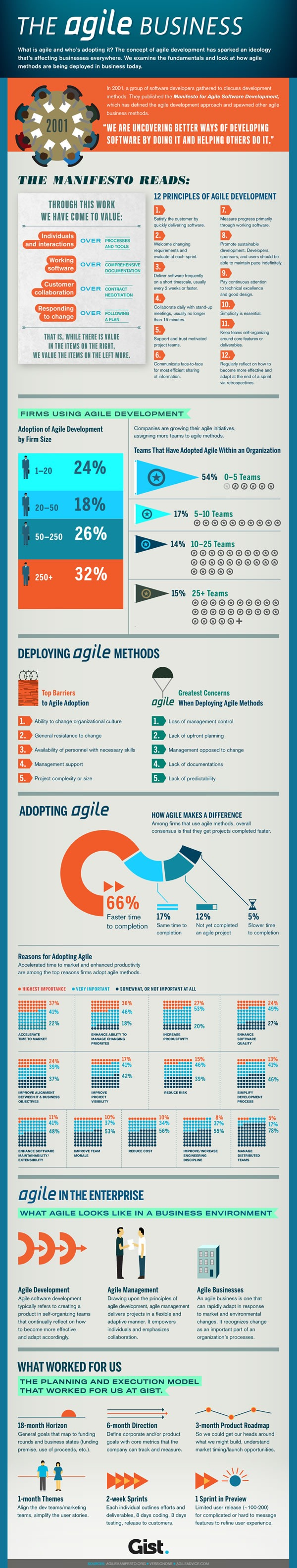 """""""The Agile Business"""" infographic"""