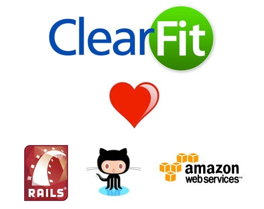 Clearfit [hearts] Rails, GitHub and Amazon Web Services