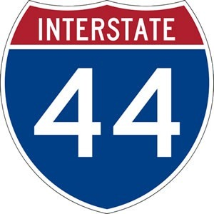 """Interstate 44"" sign"