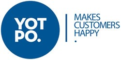 "Yotpo Logo: ""Yotpo. Makes Customers Happy."""
