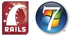 Rails and Windows 7 logos