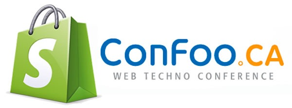 shopify and confoo logos