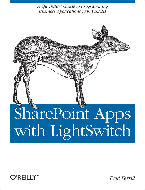 "Cover of the O'Reilly book ""SharePoint Apps with LightSwitch"""