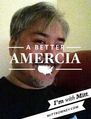 """A Better Amercia"" overlay from the ""With Mitt"" iPhone app"