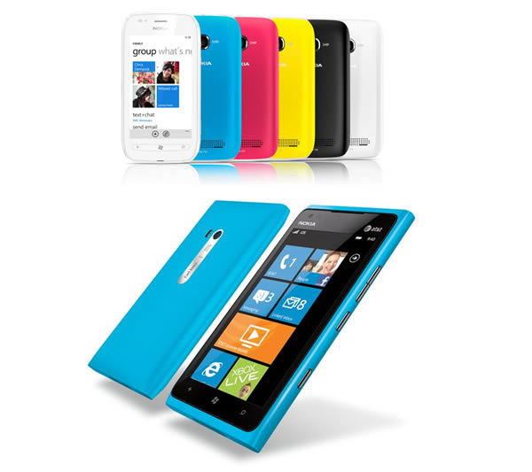 Nokia Lumia and 700 and 900 phones