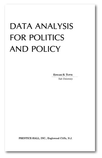 Cover of Tufte's Data Analysis for Politics and Policy
