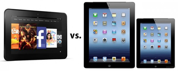Amazon Kindle Fire HD vs iPad and iPad Mini