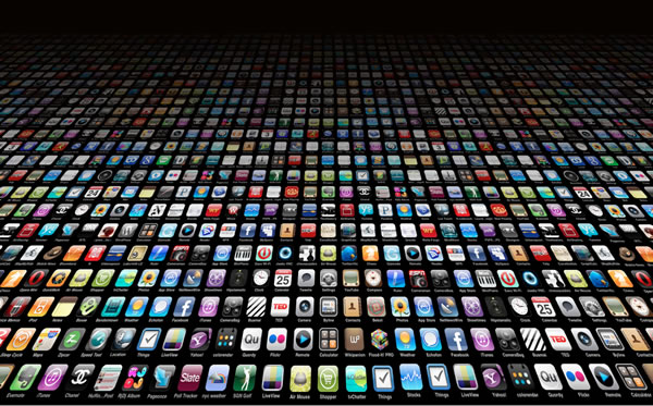 A large array of app icons