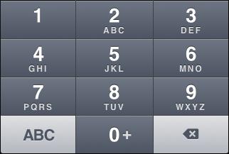 """iOS """"Name phone"""" keyboard, alternate """"phone"""" view"""