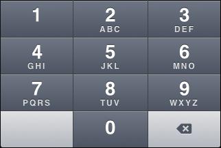 """iOS """"Number pad"""" keyboard"""