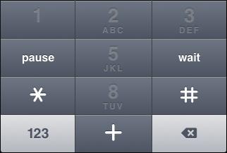 "iOS ""Phone pad"" keyboard, alternate ""star/pound/plus"" key view"