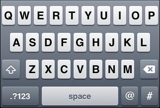 "iOS ""Twitter"" keyboard, default letter view"