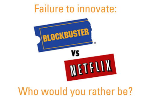 netflix vs blockbuster business model It looks like blockbuster video's aggressive new tactics—mirroring netflix's internet video rental model, doing away with late fees, etc—are finally having.