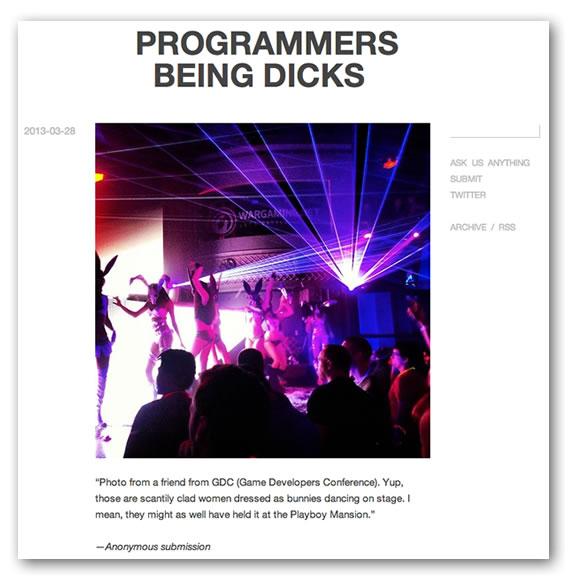 programmers being dicks