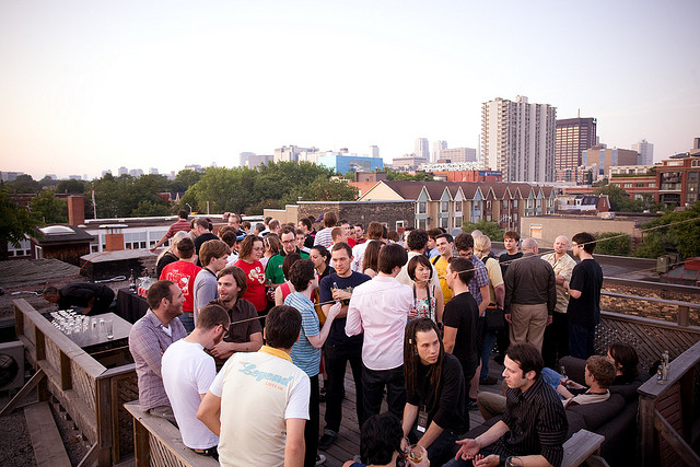 unspace rooftop party