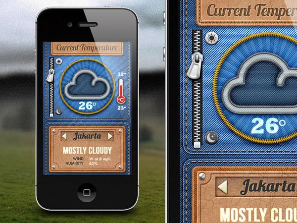 denim weather app
