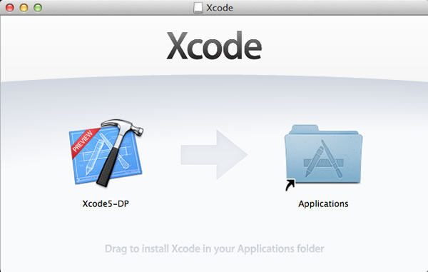 xcode dmg window
