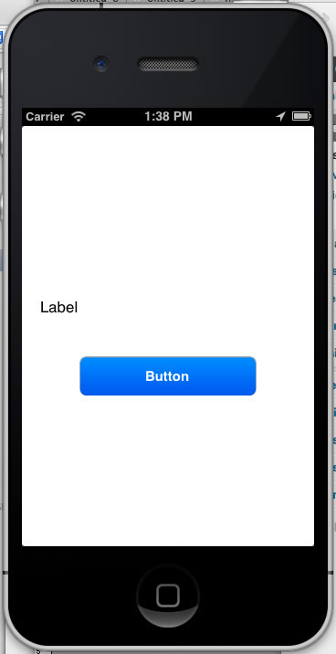 app with label and button 2