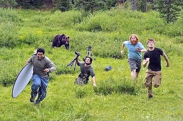 outrunning a bear
