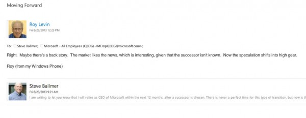 roy levin's reply-all re ballmer