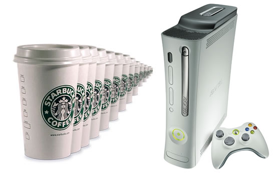 starbucks coffee and xbox