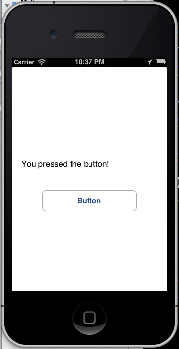 you pressed the button