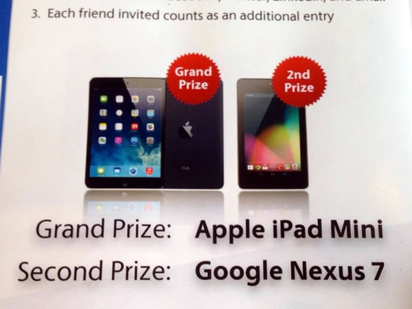 grand and second prizes