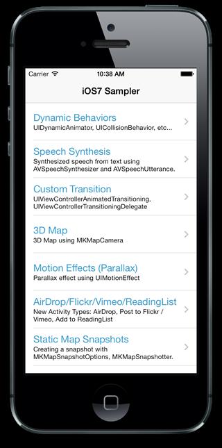 iOS 7 sampler