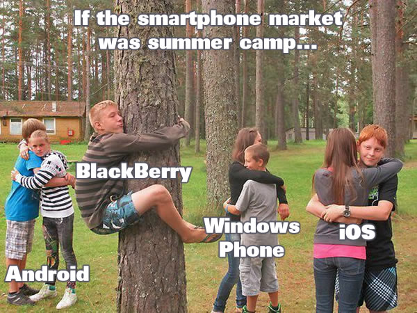 if the smartphone market was summer camp