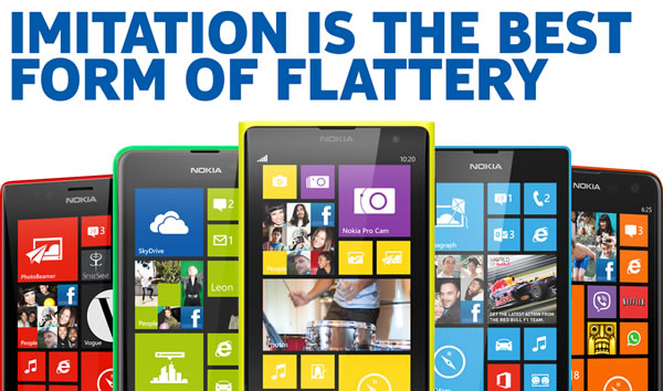 nokia - imitation in the best form of flattery