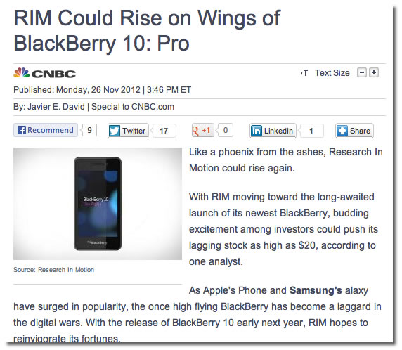 rim could rise on wings of blackberry 10