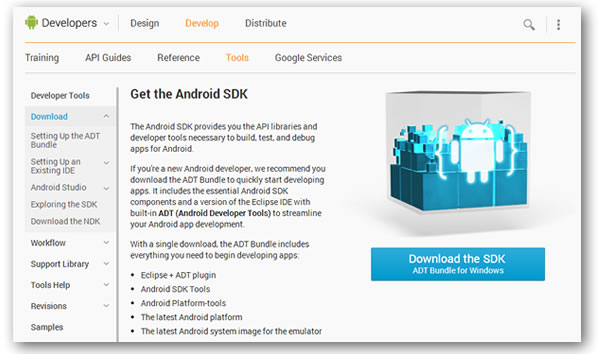 android sdk page