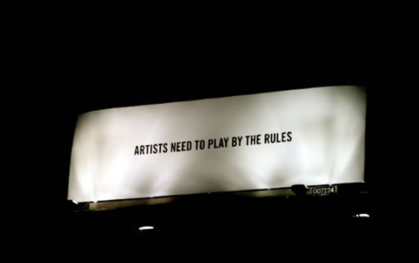 artists need to play by the rules