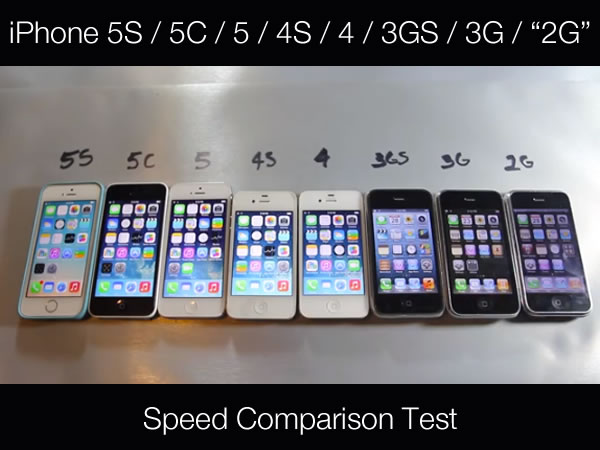 all the iphones ever made a speed comparison test of every iphone made global 16565