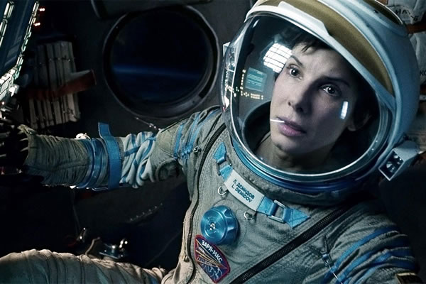 sandra bullock in spacesuit in gravity