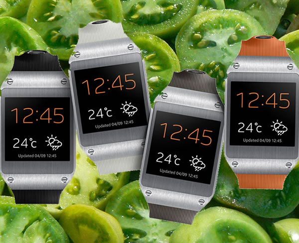samsung galaxy gear - small green tomatoes