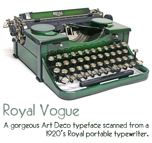 royal vogue typeface