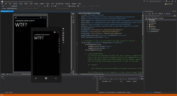 vs 2013 screenshot