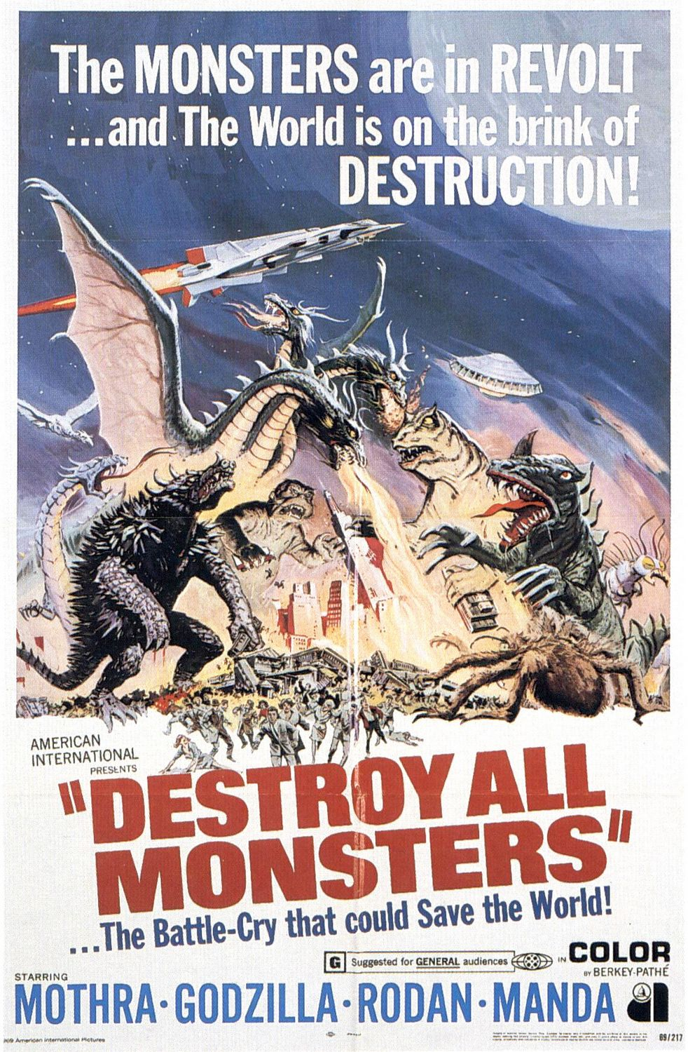 Poster for the classic B-movie 'Destroy All Monsters!'