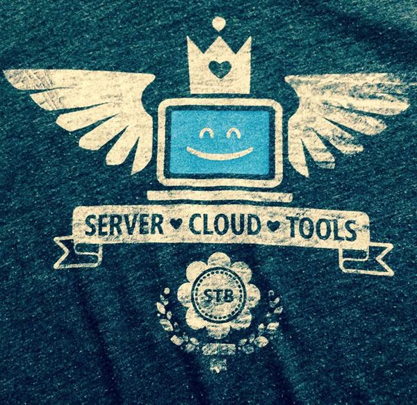 server cloud tools t-shirt