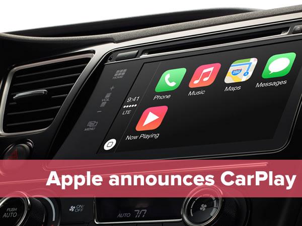 apple announces carplay