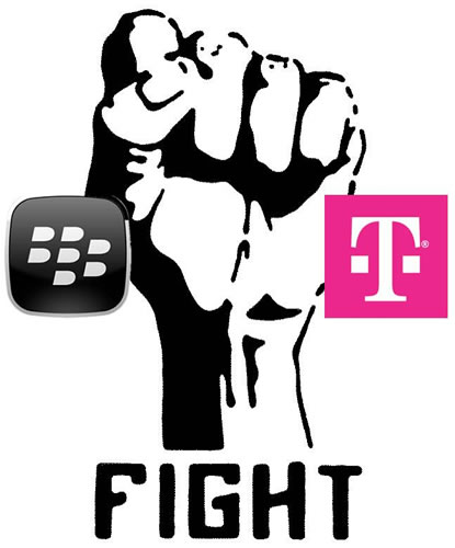 blackberry t-mobile fight